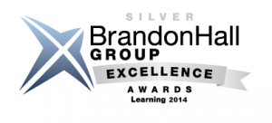 Silver Brandon Hall Group Excellence Awards Learning 2014