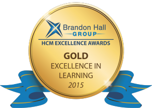 Brandon Hall Group HCM Excellence Awards Gold Excellence in Learning 2015